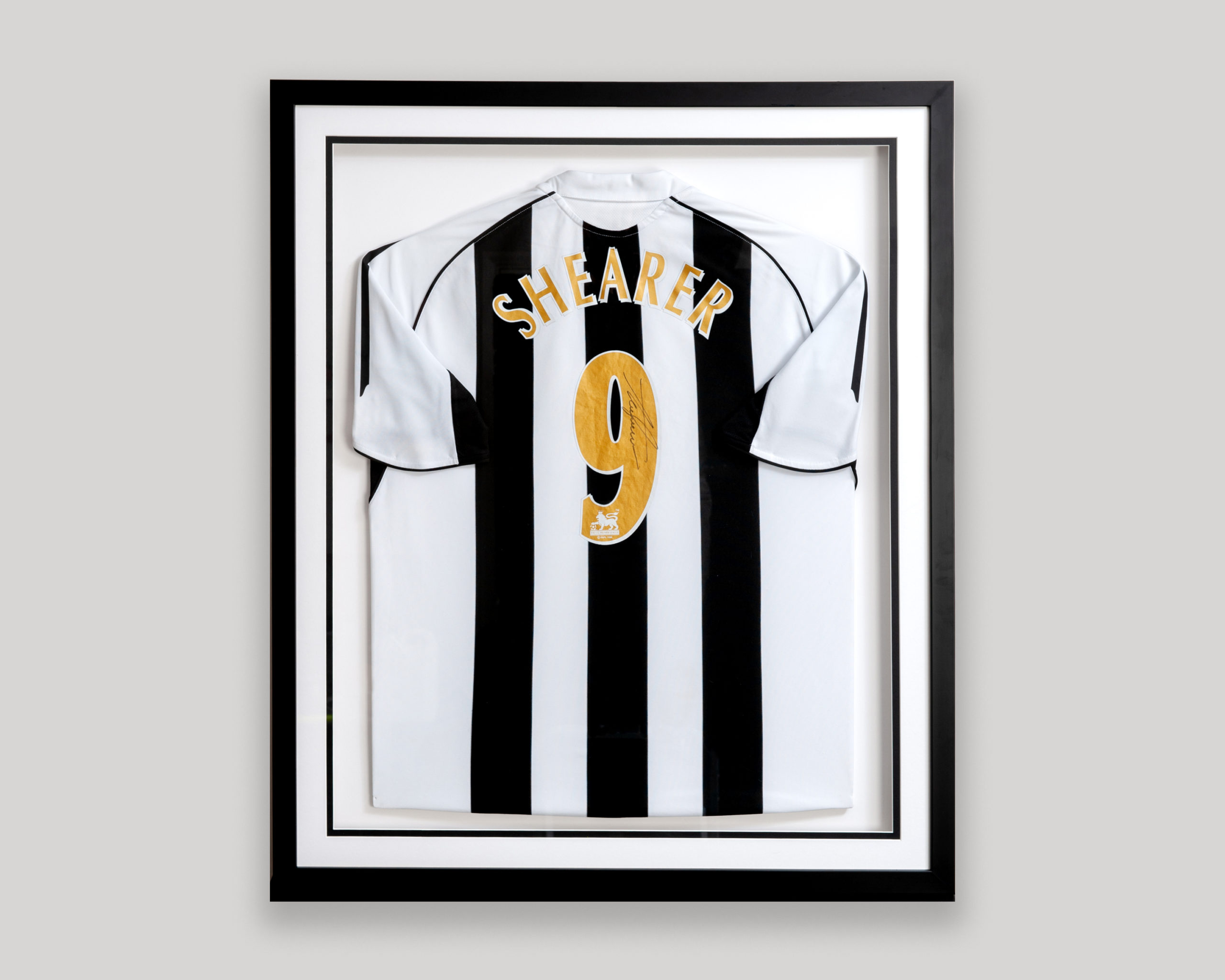 Framed Shearer Football Shirt
