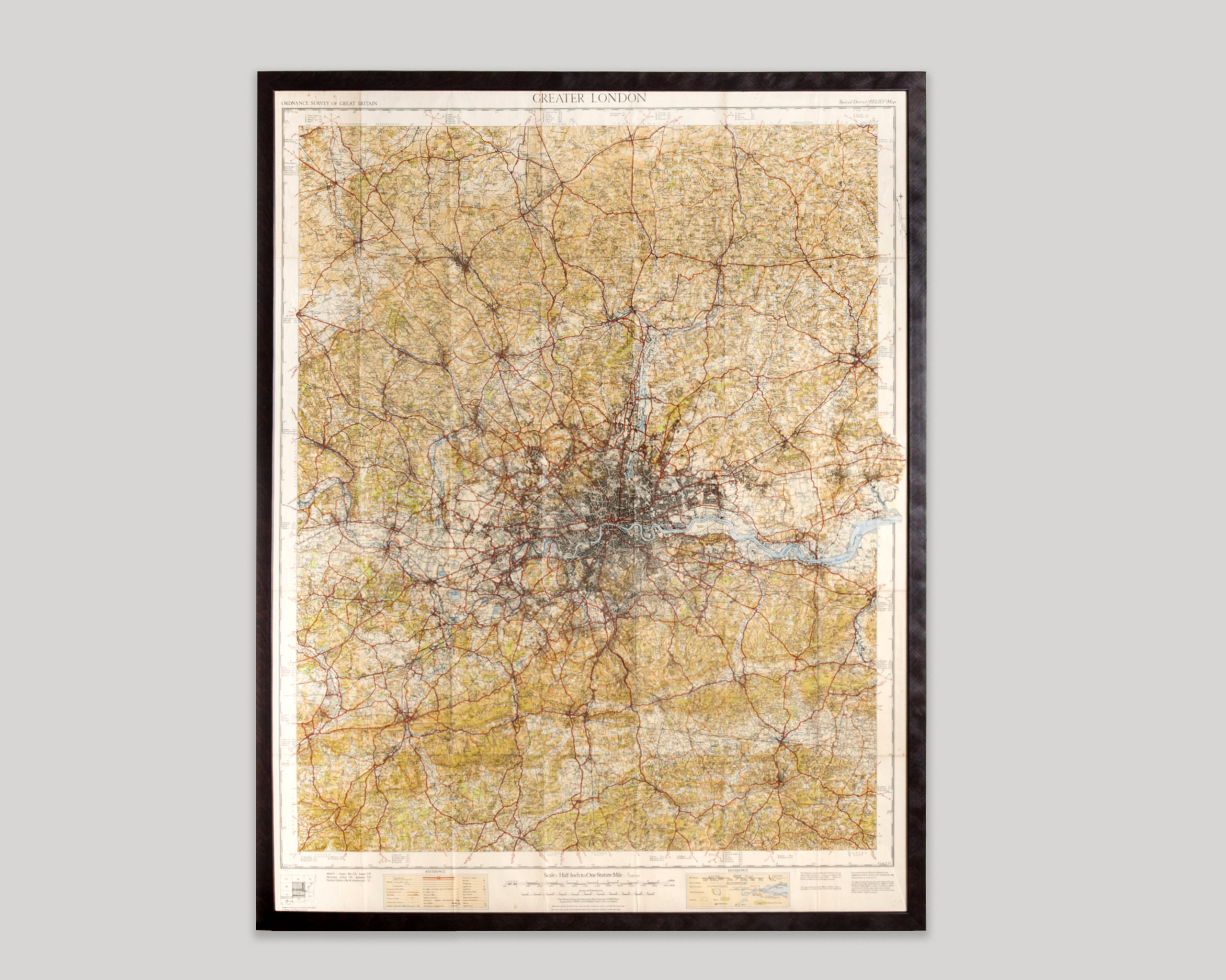 Framed Map Of Greater London