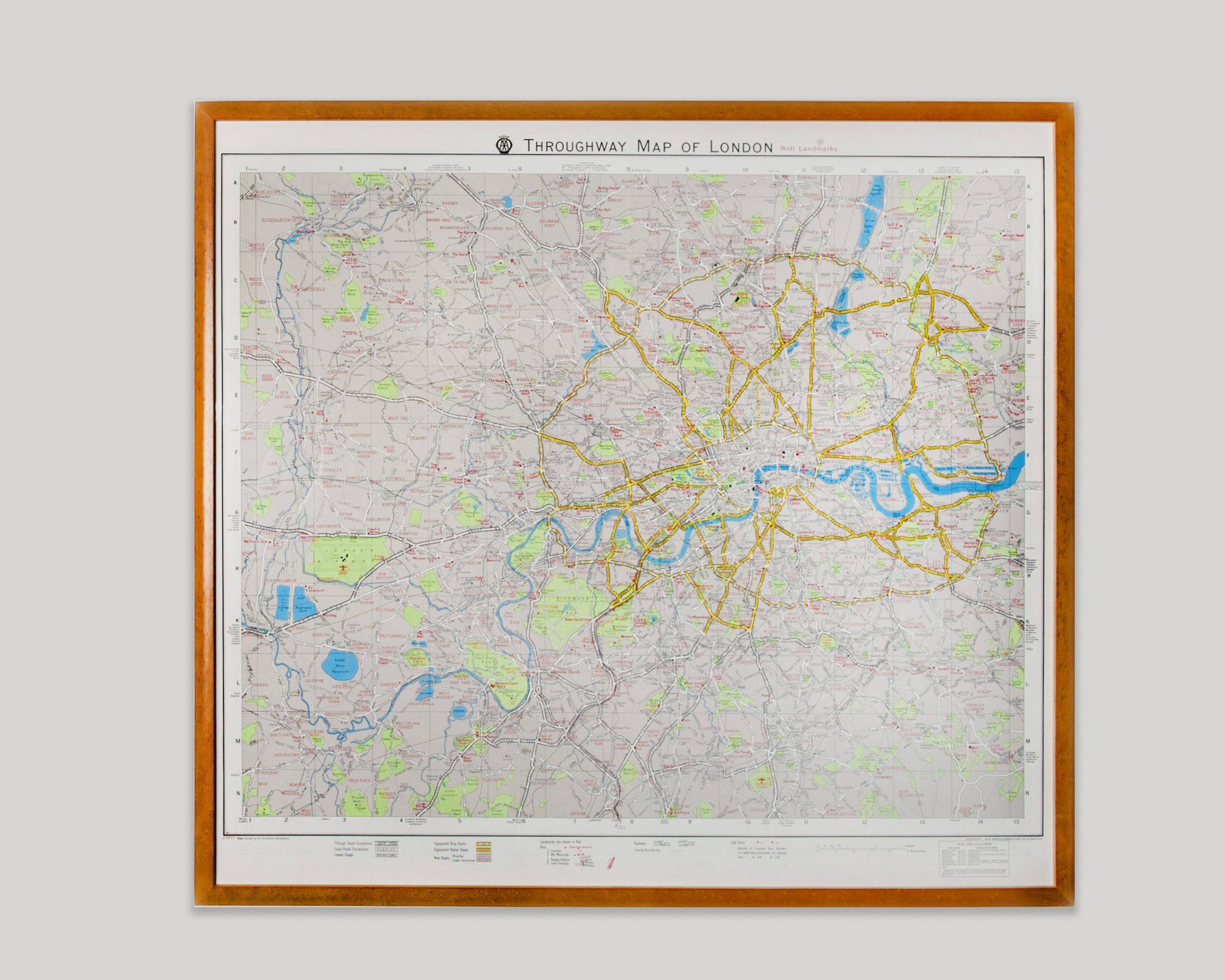 Map Framing Of London