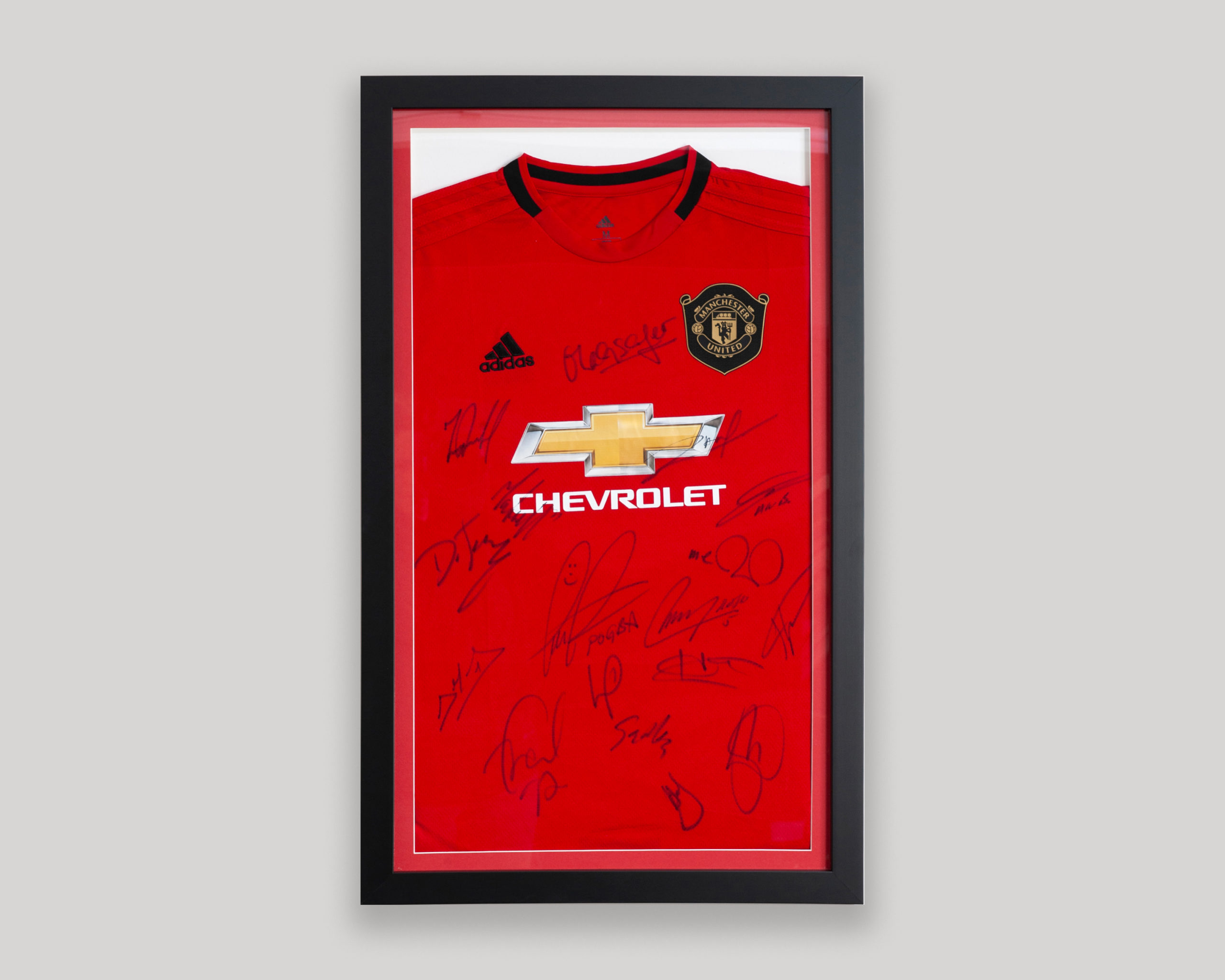 Framed Man Utd Football Shirt