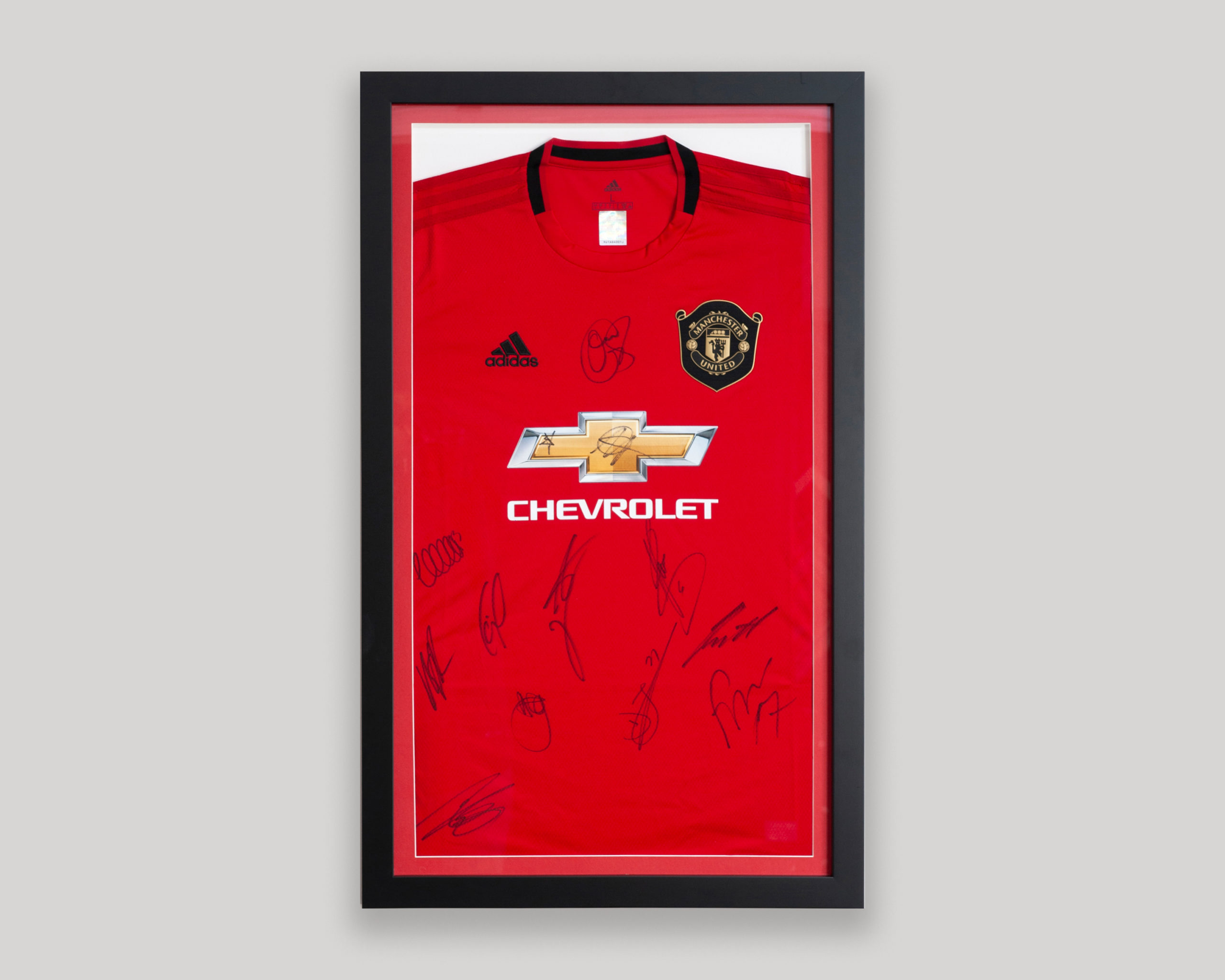Framed Manchester United Football Shirt
